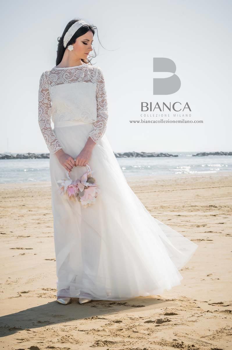 Abito Sposa Dafne 2020 Collezione Sposa Romantica 2020 Bianca Collezione Milano