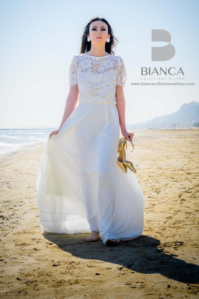 Abito Sposa Dalia 2020 Collezione Sposa Romantica 2020 Bianca Collezione Milano