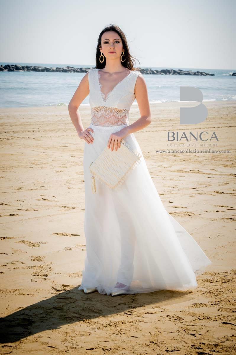 Abito Sposa Dalila 2020 Collezione Sposa Romantica 2020 Bianca Collezione Milano