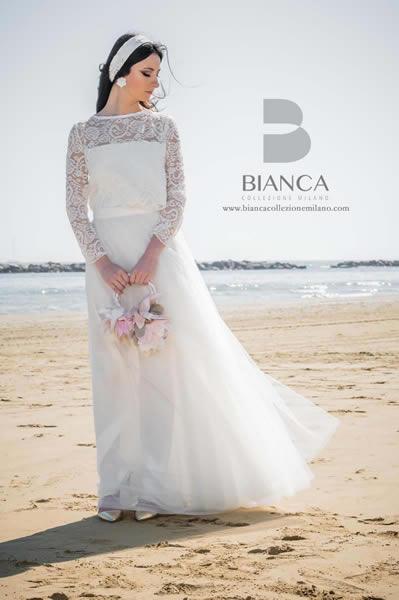 Collezione Sposa Romantica 2020 Abito Sposa Dafne 2020 Bianca Collezione Milano